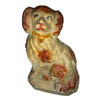 Late 19th Century American Chalkware Dog (Spaniel)