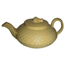 Small Wedgwood Caneware Bachelor's Teapot, c. 1800