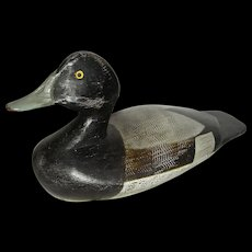 Bluebill Duck Decoy w/ Original Comb Painted Surface