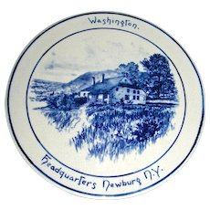 Volkmar Pottery Historical Plaque: Washington's Headquarters, Newburg, NY, c. 1900