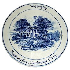 Volkmar Pottery Historical Plaque: Washington's Headquarters, Cambridge, Mass. c. 1900