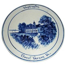 Volkmar Pottery Historical Plaque: Washington's Home at Mt. Vernon, Virginia, c. 1900