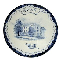 Volkmar Pottery Historical Plaque: First White House, Cherry St., New York, c. 1900