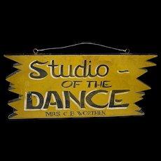 Studio of the Dance Sign in Original Paint, c. 1950s