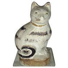"""6"""" Chalkware Cat, c. 1890-1900"""