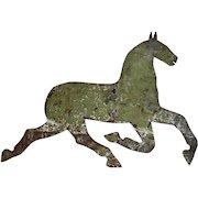 Sheet Metal Running Horse Silhouette