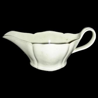 Small & Delicate English Creamware Gravy Boat, c. 1810-1820