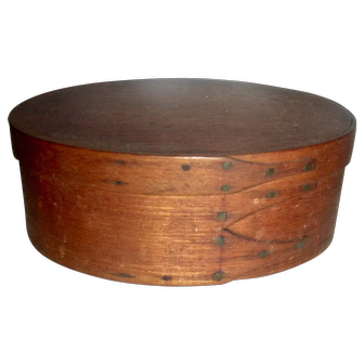 "5 ¼"" Oval 3 Finger Shaker Box, c. 1880"
