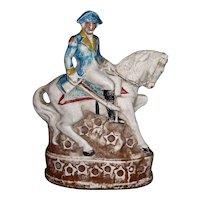 Large Chalkware Figure of George Washington on a Horse
