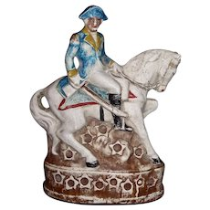 Large Chalkware Figure of George Washington on a Horse