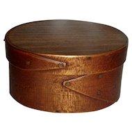 "3 ½"" Oval Box w/ 2 Fingers, c. 1880"