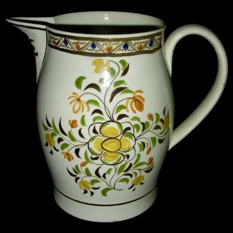 """Pratt Decorated 6 ½"""" Pearlware Jug, c. 1820"""