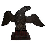 19th C Cast Iron Pilot House Eagle on Stand
