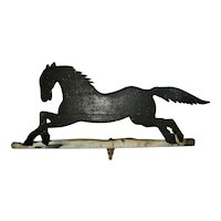 Wooden Running Horse Weathervane Fragment