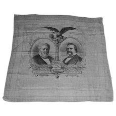 1884 US Presidential Campaign Handkerchief: Blaine & Logan