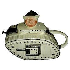 Lindgard Novelty Teapot: WWI Tank, c. 1920