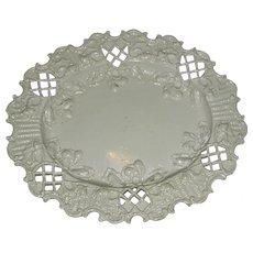 English Salt Glazed Pierced & Molded Tray, c. 1770
