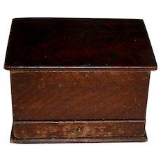 Miniature Grain Painted Box w/Drawer, c. 1860