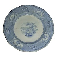 American Historical Staffordshire Cup Plate: New York from Weehawken, c. 1840
