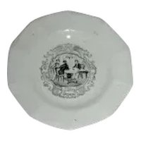 Am Historical Staffordshire Cup Plate: Boston Mails, c. 1840