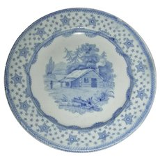 "American Historical Staffordshire Cup or Children's Plate: ""Columbian Star,"" 1840"