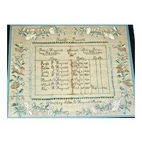 American Needlework Family Register: Heywood Family, Winchendon, MA, c. 1833