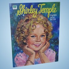 1976 Whitman Shirley Temple Paper Doll Book Uncut!