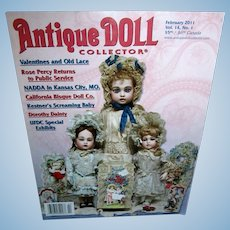 Antique Doll Collector Feb 2011 Kestner's Screaming Baby and More!