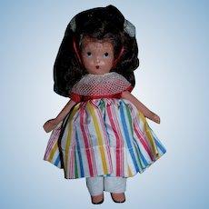 Vintage 1930s Nancy Ann Storybook #122 Alice Sweet Alice Jointed!