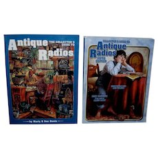 2 Collector's Guide to Antique Radios Unused Condition