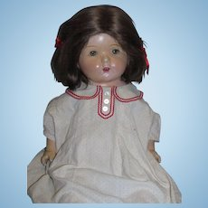 """Precious 26"""" Mama Doll from the 1930s with tin eyes!"""