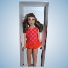 Vintage 1969 Skipper Brunette Bendable Legs Mint and Unplayed With!