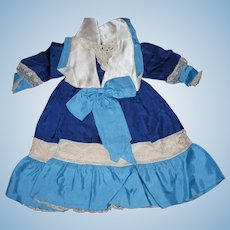 Silk Doll Dress with Attached Slip for your treasured Antique Bebe!