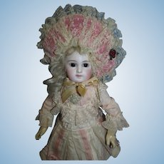 Luscious vintage Lace and Satin Bonnet for your French Jumeau Bebe!