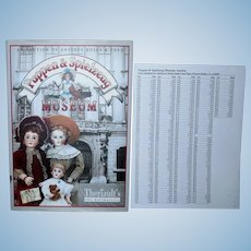 Theriaults Puppen & Spielzeug Museum Book with Prices Realized NEW Unused!