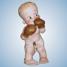 Vintage and so Adorable All Bisque Boxer!