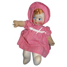 "Vintage Georgene Averill 17"" Cloth Chubby Baby Doll!"