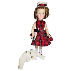 "Vintage 1950's Ideal 17"" vinyl Shirley Temple in Scottish Outfit!"