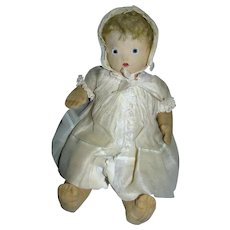 1930's Chad Valley England Cloth Baby Doll All Original and So Sweet!