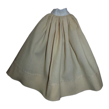 Antique Wool Flannel Slip for your Antique Fashion Doll!