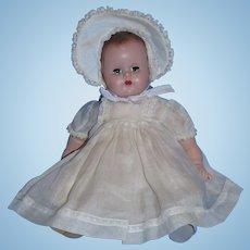 "1950's Madame Alexander 11"" Hard Plastic and Cloth Baby Doll!"