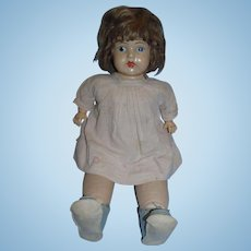 """Vintage 1923 Averill 22"""" Mama Doll with Composition Head and Cloth and Composition Body!"""