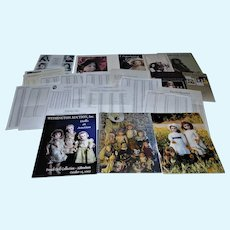 HUGE Lot includes Withington Auction Catalogs, Extra Theriault's Prices Realized Sheets and Booklets and Heirloom Dolls Book!