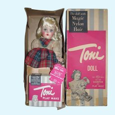 Gorgeous vintage 1950's Ideal P90 Toni Tagged Unplayed With in Box with Playwave Kit! !