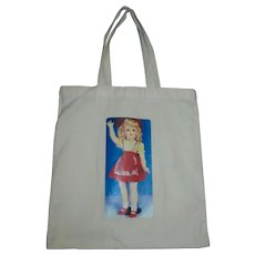 Rare Cotton Muslin Silkscreen Toni Tote Bag...Clean and Never Used!