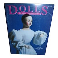 Dolls Collector Magazine Fall 1983 Very Early Issue! Early Ginny, How to Clean Your Dolls, Exploring the Kubelka Mystery and more!