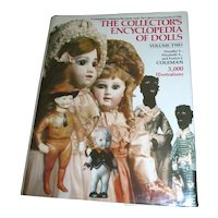 Vintage The Collector's Encyclopedia of Dolls Volume Two Coleman 1266 Pages MINT!