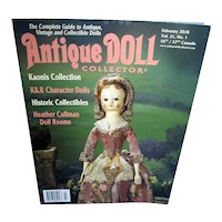 Antique Doll Collector Febuary 2018 Mint!