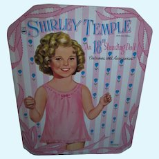 """RARE 1959 Saalfield Shirley Temple 18"""" Standing Paper Doll N/Mint and UNCUT!"""