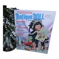 Antique Doll Collector Feb 2014 S&H Fashion Doll Sandra Sue Handkerchiefs and Dolls and more Mint!
